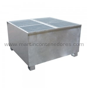 Perforated box plastic 1200x1000x760/600 mm