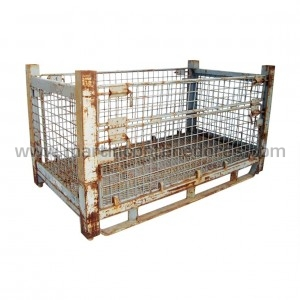 Mesh stillages foldable 1500x800x820/600 mm