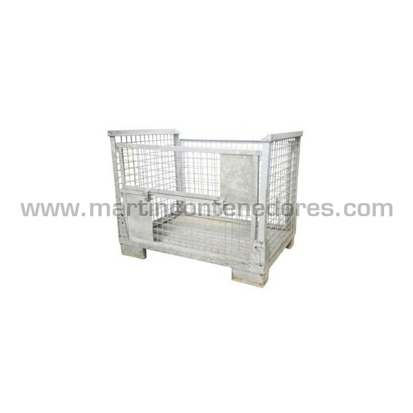 Foldable container galvanized 1200x800x970/800 mm