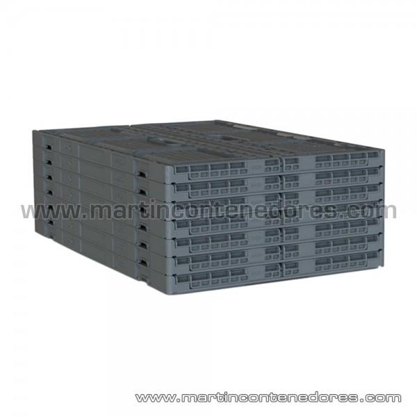 Caja plástica plegable ventilada