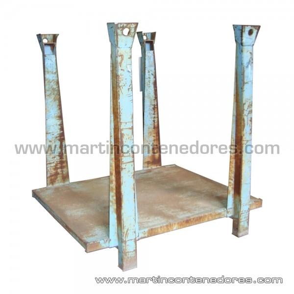 Palette métallique empilable avec largeur intérieure 1000 mm