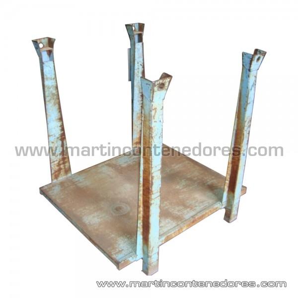 Palette métallique avec longueur intérieure 1200 mm