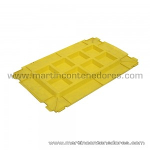 Lid for box 600x400 mm Yellow