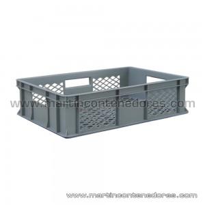 Caja plástica semi-ranurada 600x400x150/140 mm