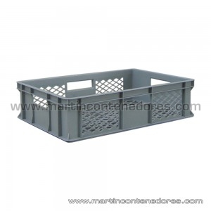 Plastic box half-perforated 600x400x150/140 mm