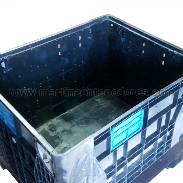 Contenedor plástico color negro