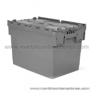 Caixa plástica encaixável 600x400x420 mm
