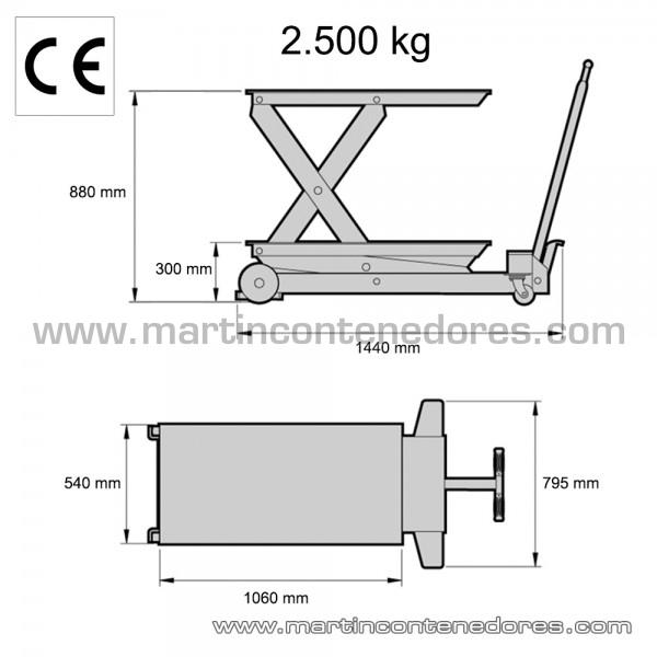 Table élévatrice poids à vide 187 kg