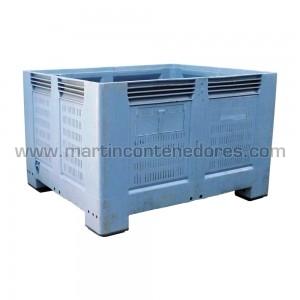 Contenedor plástico 1200x1000x760/620 mm 4 pies