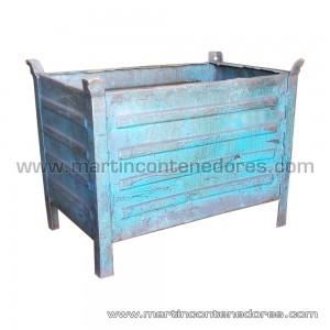 Conteneur tôlé longueur 800 mm bleu