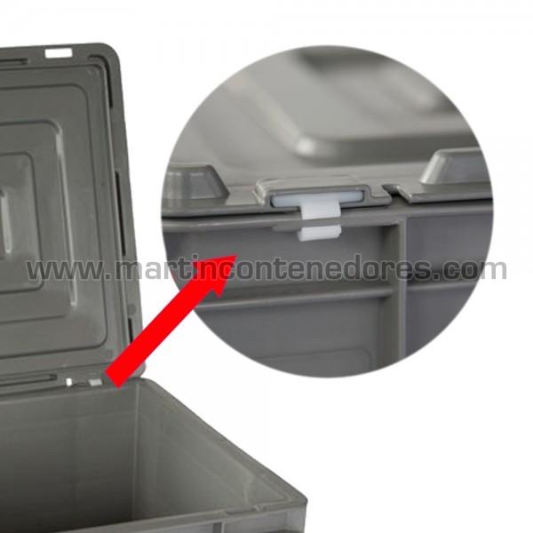 Tapa para caja gris