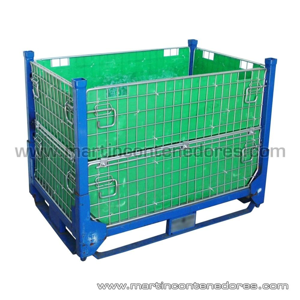 Caisse palette rabattable 1150x800x730/500 mm