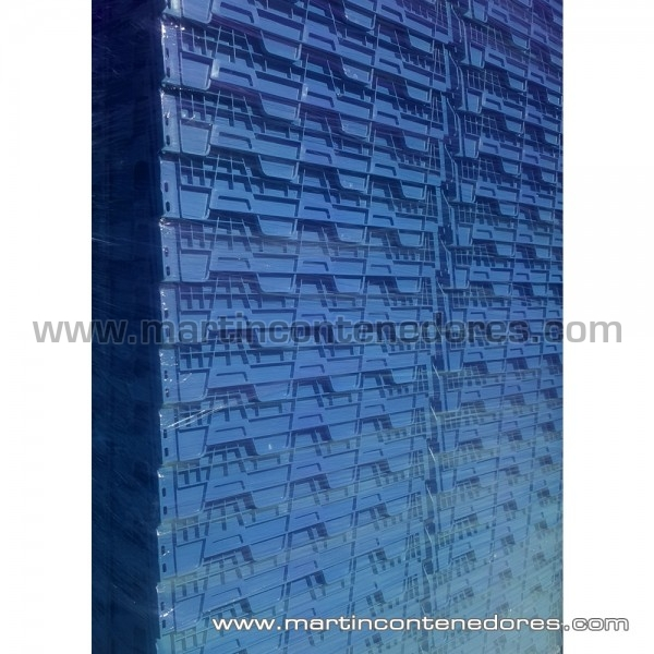 Bac de rangement plastique emboitables bleu