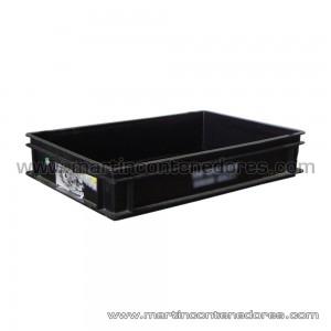 Caja plástica ESD conductiva 600x400x120/110 mm