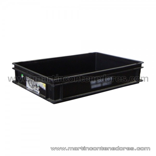 Plastic box ESD conductiva 600x400x120/110 mm