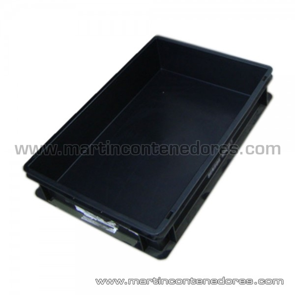 Caja plástica Negro