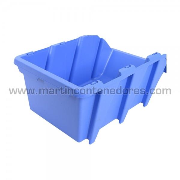 Gaveta plástica visualizadora color azul