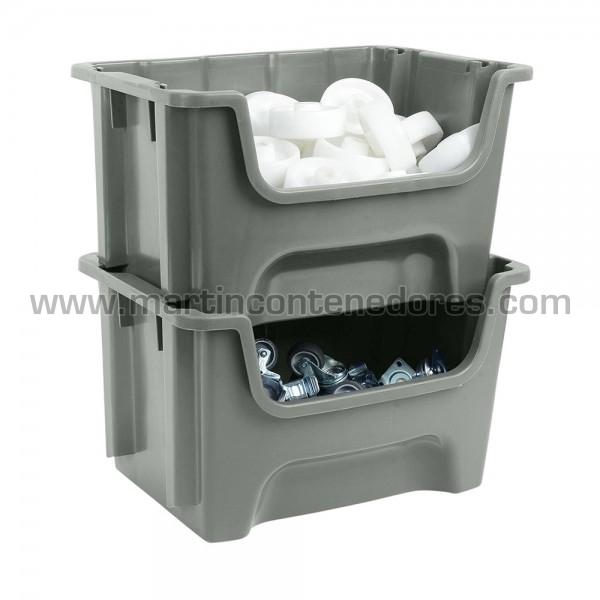 Storage bin plastic 490x400x300 mm