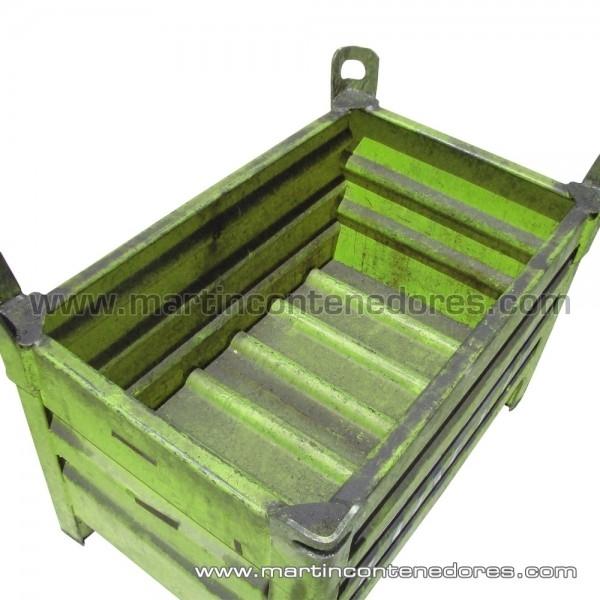 Contenedor de chapa apilable usado color verde