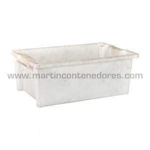 Caixa plástica encaixável usada