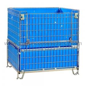 Conteneur metallique zinguées 1150x1000x1200/1060 mm