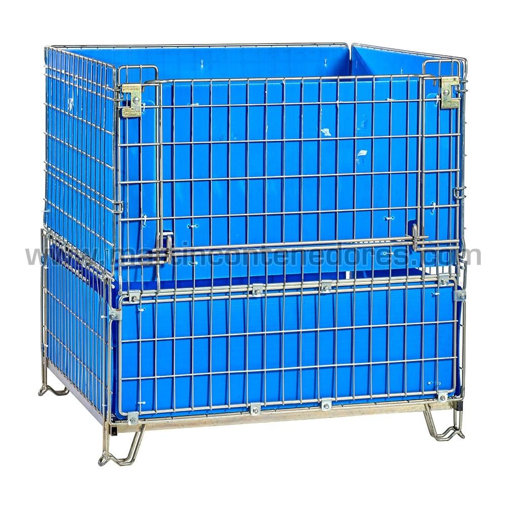 Contenedor varilla zincada 1150x1000x1200/1060 mm