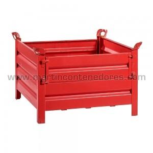 Stacking box steel 960x960x630/500 mm