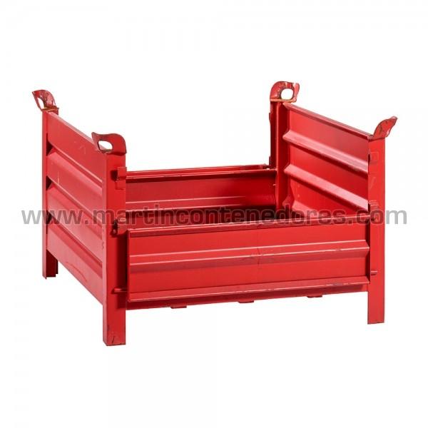 Contenedor chapa usado color rojo