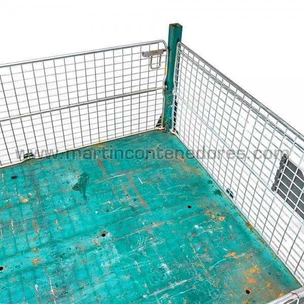 Contenedor SLI plegable azul verdoso