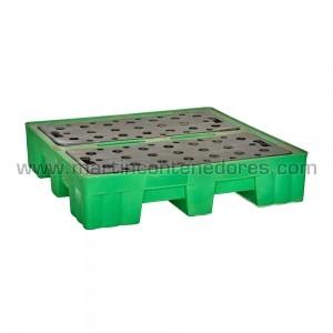 Cubeto de retención de líquidos usado fabricado en polietileno