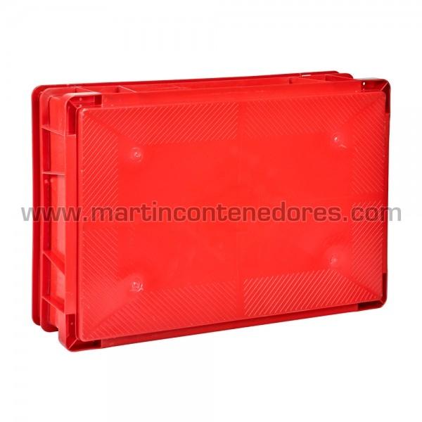 Caja plástica roja