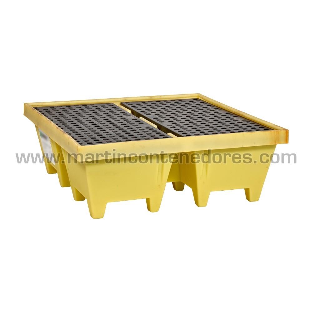 Cubetas Antiderrame apilable fabricado en HDPE virgen