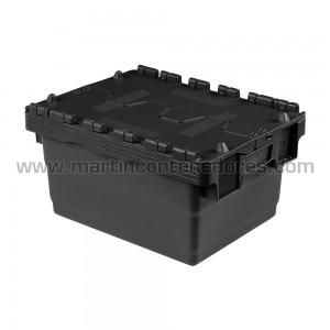 Caixa encaixável com tampa 400x300x200/185 mm
