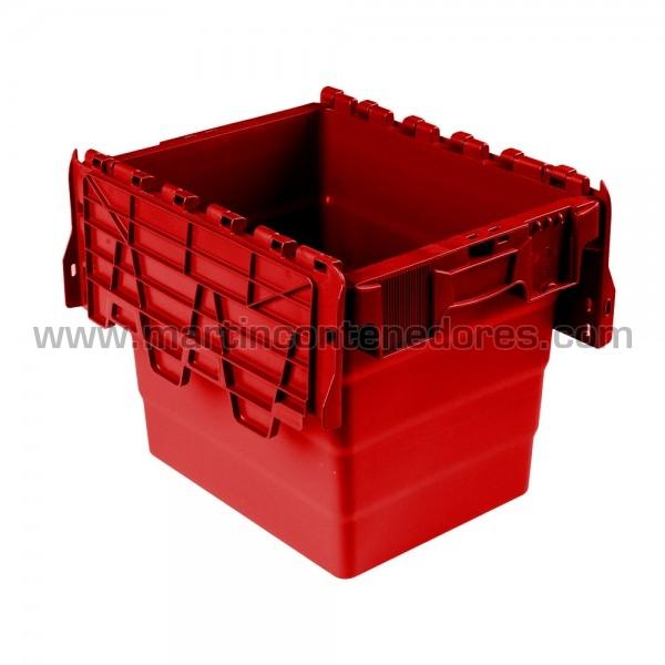 Caja encajable con tapa color rojo
