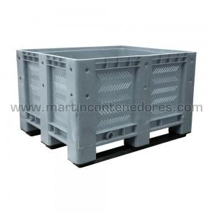 Contenedor plástico ranurado 1200x1000x760/600 mm