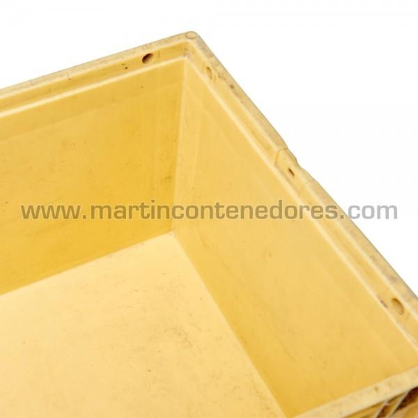 Caja plástica amarillo