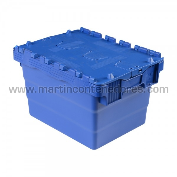 Box nestable with lid 400x300x250/232 mm