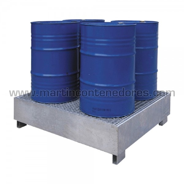 Bac de rétention pour 4 fûts capacité 440 litres