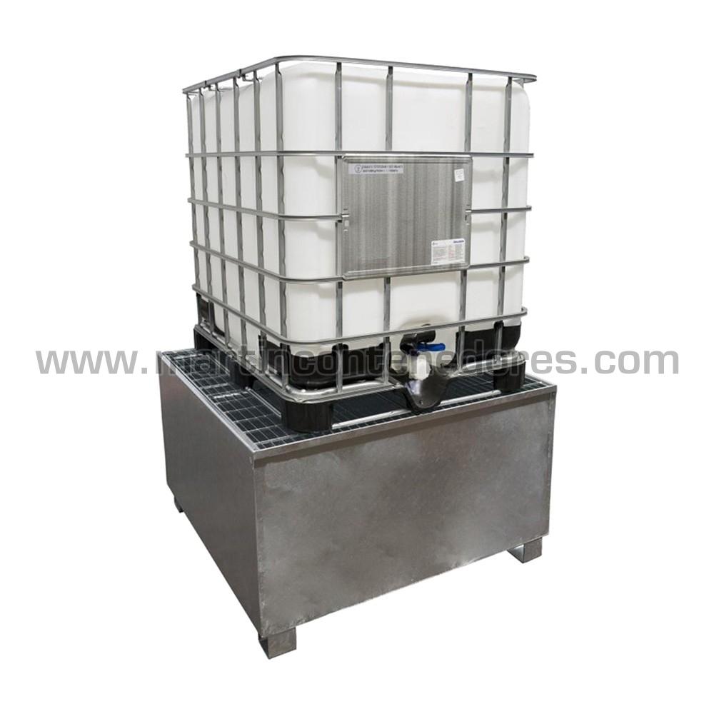 Cubeto de retención para 1 depósitos IBC / GRG nuevo