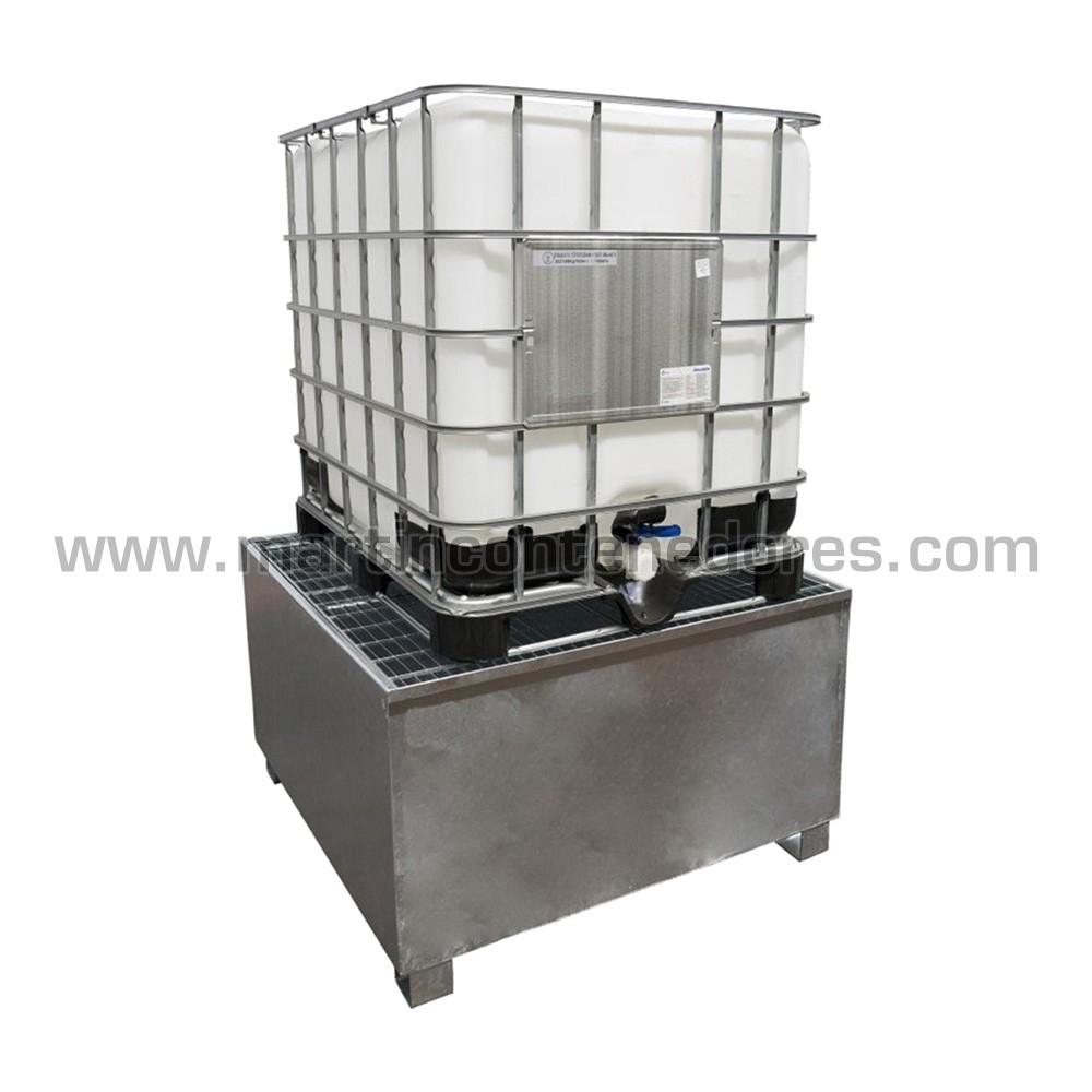 Palete de retenção para 1 IBC / GRG 1000 litros