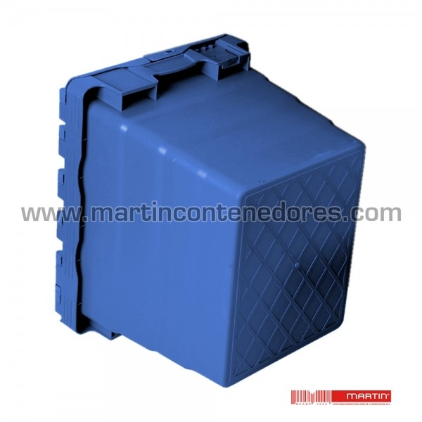 Caixa com tampa azul