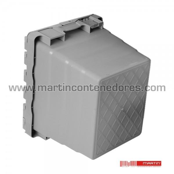 Caja plástica encajable 600x400x320 mm