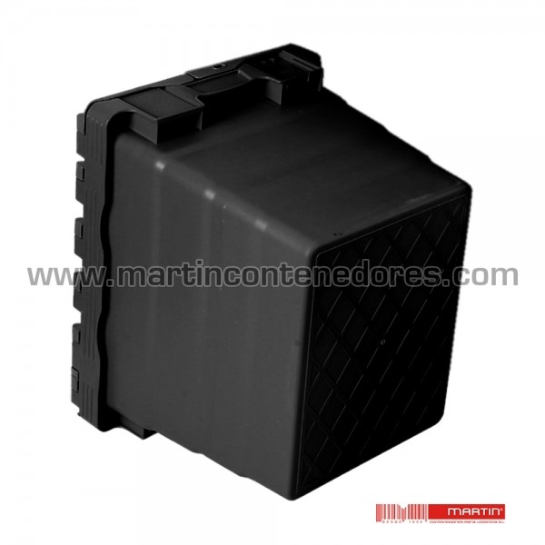 Caixa encaixável com tampa com capacidade para 28 litros