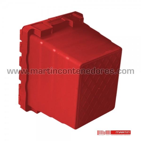 Caixa encaixável com tampa vermelha
