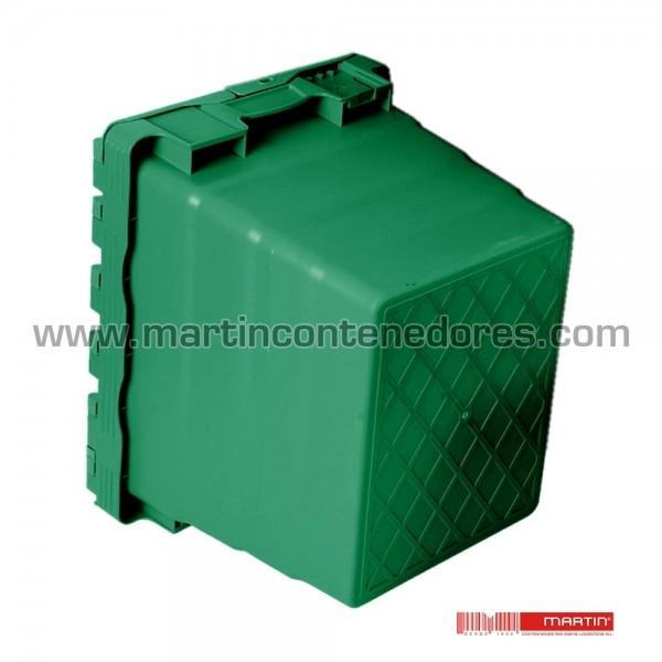 Caixa de plástico com altura de 416 mm