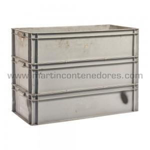 Caixa plástica 800x400x600/590 mm