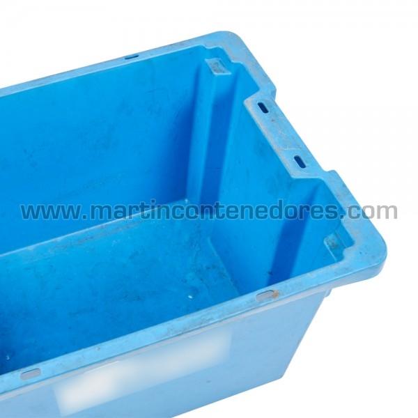 Caixa encaixável plástica em bom estado de conservação