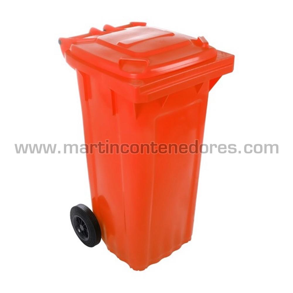 Contenedor basurero nuevo 120 litros color rojo