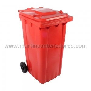 Contenedor basurero rojo
