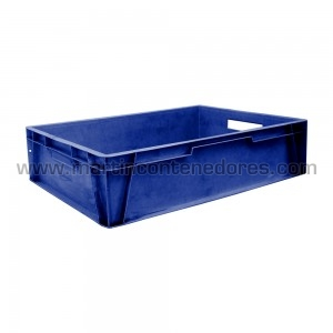 Caja plástica usada.